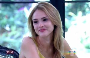 Isabelle Drummond chora com surpresa do namorado, Tiago Iorc, no 'Mais Você'