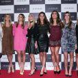 Bruna Marquezine e Sabrina Sato foram ao lançamento da grife Le Lis Blanc, em São Paulo, na noite desta quinta-feira, 28 de maio de 2015