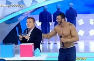 Kleber Bambam brinca após confusão de Gugu Liberato: 'Muito homem bonito aí!'