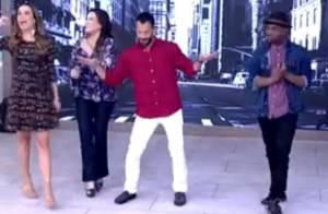 Malvino Salvador dança durante o 'Encontro' e ganha elogios: 'Homem maravilhoso'