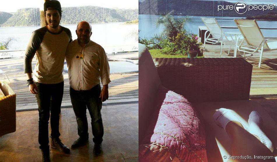 Luan Santana e a blogueira Flavia Pavanelli foram clicados no mesmo hotel e as fãs do cantor já apostam em um namoro entre os dois