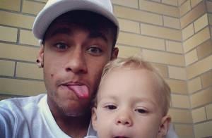 Neymar aproveita folga nos treinos da Seleção para visitar o filho, Davi Lucca