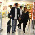 Na última terça, Luciano e Lohanna foram fraglados usando aliança na mão esquerda, em aeroporto do Rio