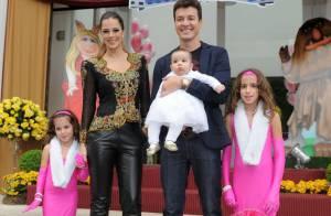 Filhas de Rodrigo Faro recebem Rafaella Justus e outros amigos em aniversário