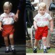 Assim como príncipe William, o pequeno George usou uma roupa bem parecida à usada pelo pai 30 anos atrás ao visitar o irmão, Harry, no hospital