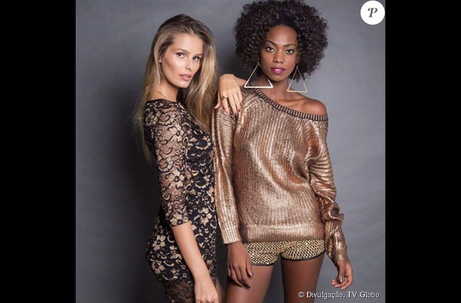 4c78f155578ca O vestido (R  515,00) de Stephanie (Yasmin Brunet), o brinco (R  120,00) e  o short (R  250,00) de Lyris (Jéssica Cores) são da British Made Clothes