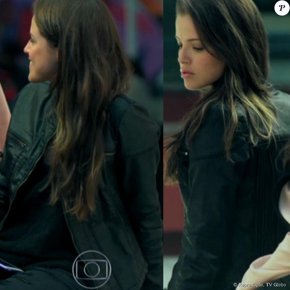 79779e02e78dd Para um dia de aula, Giovanna (Agatha Moreira) usou jaqueta da marca Lança  Perfume e calça da Loony Jeans
