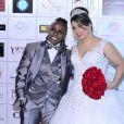 Casamento da cantora Neném com Thais Baptista, nesta segunda-feira, 6 de julho de 2015, em São Paulo