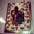 No mesmo dia, Fanny ganhou da família um bolo de aniversário com uma foto dela e de Balotelli como decoração