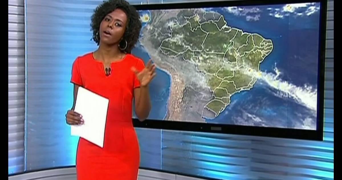 54eb8cf83 Maju começou como garota do tempo do  Bom Dia Brasil