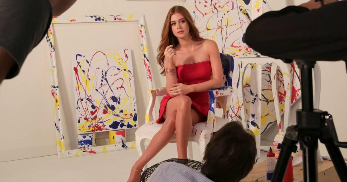 9ffdcff22c2 Marina Ruy Barbosa usa vestido curtinho em ensaio   Domingo também é dia  -  Purepeople