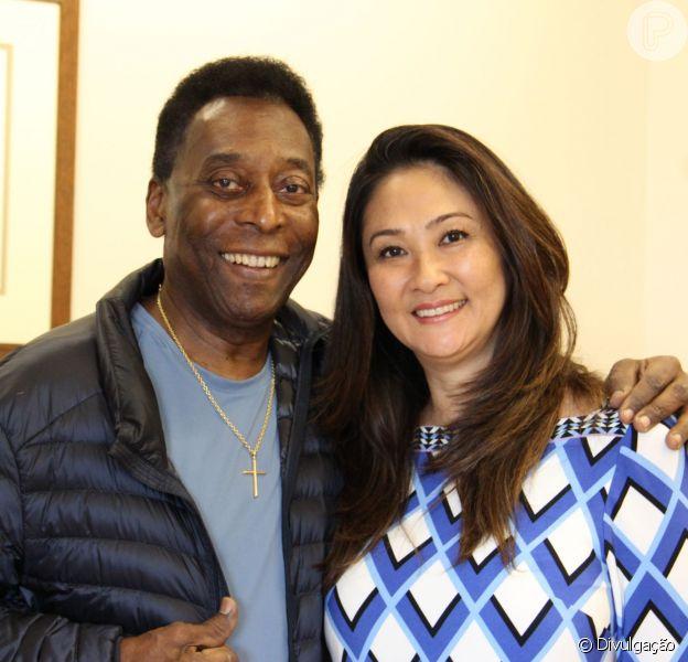 Pelé recebeu alta hospitalar após cirurgia na coluna nesta segunda-feira, dia 20 de julho de 2015. Ele deixou o Hospital Albert Einsten, em São Paulo, acompanhado da mulher, Márcia Aoki