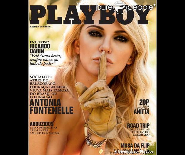 A revista 'Playboy' divulgou nesta sexta-feira, 5 de julho de 2013, a segunda capa da edição com o ensaio nu de Antonia Fontenelle