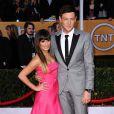 Cory Monteith namorava Lea Michele, companheira dele em 'Glee'