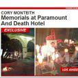 O ator tem recebido muitas homenagens na porta do hotel onde o corpo foi encontrado