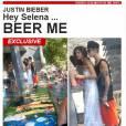 Selena Gomez e Justin Bieber foram flagrados esta semana pelo site 'TMZ'