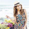 Nas fotos, Sabrina Sato mostra boa forma em vestidos com estampas coloridas