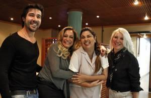 Susana Vieira recebe visita de sogra e marido nos estúdios de 'Amor à Vida'