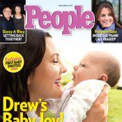 Drew Barrymore mostra em revista o rostinho da filha, Olive, pela primeira vez