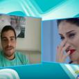 Paloma Bernardi não segurou a emoção ao ouvir a declaração de Thiago Martins, ao vivo, durante o programa de Xuxa