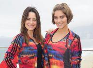 Isabella Santoni e Fernanda Vasconcellos fazem treino funcional juntas na praia