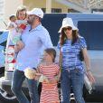 Ben Affleck e Jennifer Garner são pais de Violet, de 7 anos, Seraphina, de 4, e Samuel, de 1