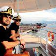Zezé di Camargo e Luciano posam em novembro de 2012 para a revista 'Contigo!' no navio em que farão shows no cruzeiro 'É o Amor'