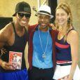 Wagner Santos, Buchecha e Luana Piovani. Atriz postou foto em seu Instagram quando ainda estava participando do quadro 'Dança dos Famosos', antes de sofrer a lesão no joelho
