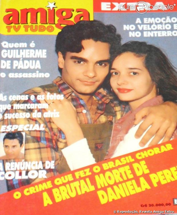 Daniella Perez foi assassinada pelo companheiro de atuação na novela 'De corpo e alma', Guilherme de Pádua, e pela ex-mulher do ator Paula Thomaz