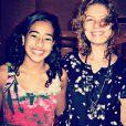 A fã Bruna Carvalho pegou Patricia Pillar na saída do Quality Hotel Petrolina e postou a imagem no Instagram