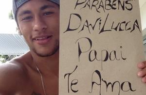 Filho de Neymar ganha declaração do craque e bolo de 2 anos: 'Papai te ama'