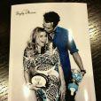 Fergie e Josh Duhamel na foto do chá de bebê da cantora