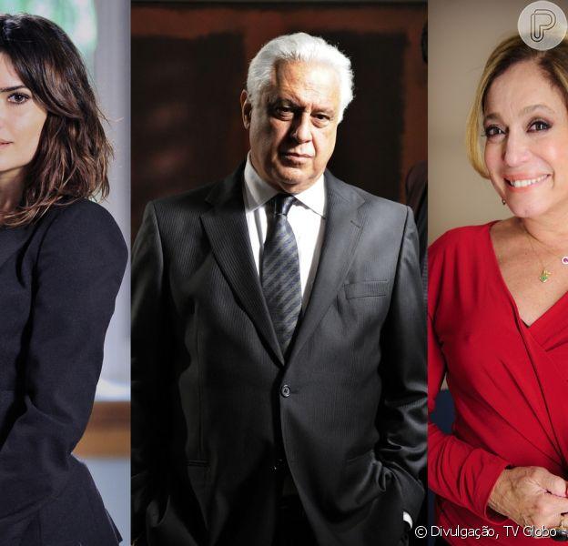 Pilar (Susana Vieira) flagra César (Antonio Fagundes) com Aline (Vanessa Giácomo), em 'Amor à Vida', em 16 de setembro de 2013