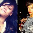 Rihanna, ainda de cabelos grandes, optou por ar natural e descontraído