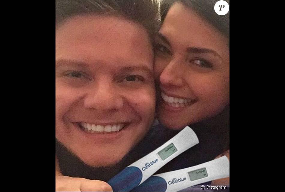Michel Teló e Thais Fersoza anunciam gravidez nas redes sociais nesta quarta-feira, 17 de fevereiro de 2016: 'Melhor notícia da vida!