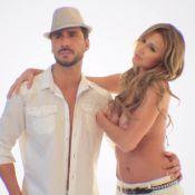 Ana Paula Seibert, namorada de Roberto Justus, posa de topless com Julio Rocha