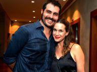 Vanessa Lóes posa com o marido, Thiago Lacerda, em meio a rumores de crise