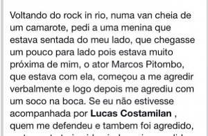 Valentina Seabra, ex-'Malhação', acusa o ator Marcos Pitombo de agressão