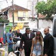 Cara Delevingne chega ao morro Dona Marta nesta sexta-feira, 4 de outubro de 2013