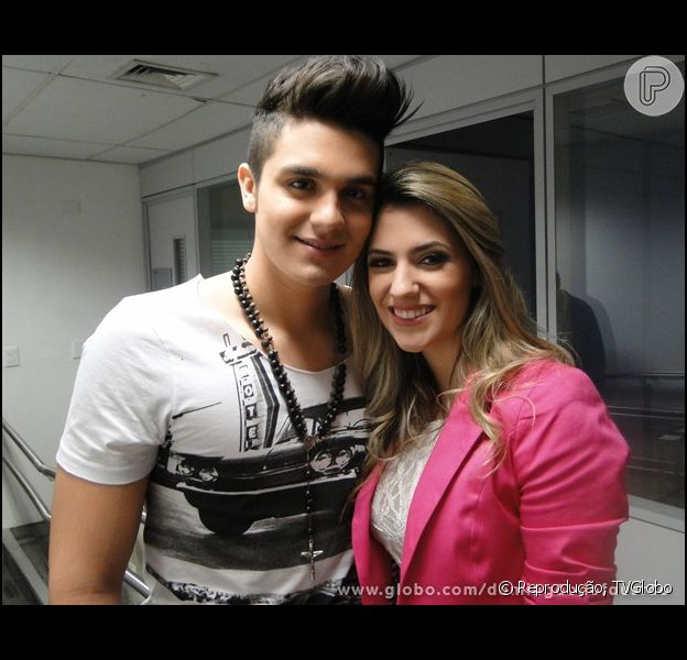 Luan Santana elogia namorada, Jade Magalhães, após ela o surpreender no 'Arquivo Confidencial', no último domingo, 13 de outubro de 2013