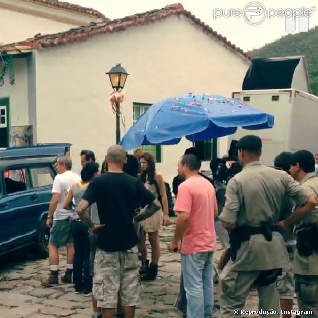 Moradores de Cidade de Goiás acompanham gravação da novela 'Em Família'