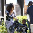 Sandra Bullock e o filho, Louis. O menino foi adotado em 2010 pela atriz