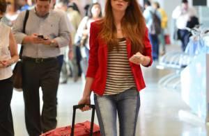 Marina Ruy Barbosa e Fernanda Machado embarcam estilosas em aeroporto do Rio