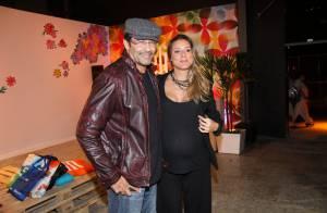 Luciano Szafir leva Luhanna Melloni, grávida de 9 meses, ao Fashion Rio