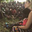 Giovanna Ewbank já publicou algumas fotos em trabalhos sociais na África