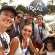 Rodrigo Faro está de férias com a mulher, Vera Viel, e as três filhas, Helena, Maria e Clara, em Orlando, nos Estados Unidos