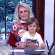 Ana Maria Braga recebeu mais uma vez o neto Bento, de 4 anos, no 'Mais Você', nesta sexta-feira, 8 de julho de 2016: 'Meu apresentador favorito'