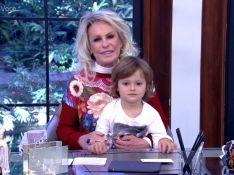 Ana Maria Braga volta a receber o neto Bento na TV: 'Meu apresentador favorito'