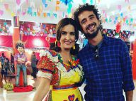 Fátima Bernardes se veste de caipira em festa junina do 'Encontro': 'Com equipe'