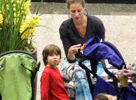 Luana Piovani curte festa junina com Dom e os gêmeos Bem e Liz
